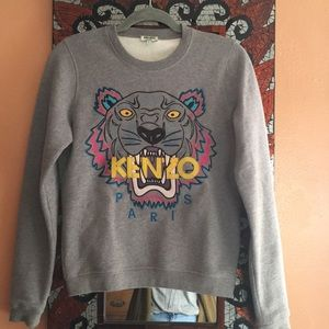 💕SALE💕 Kenzo Embroidered Tiger Gray Sweater